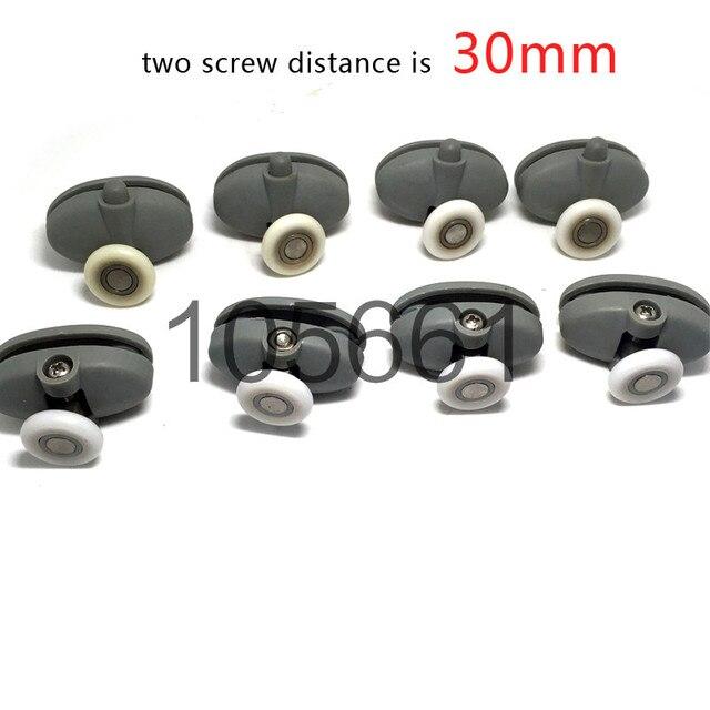 set von 8 x top bottom einzigen schmetterling duschtr rollenluferrder 25mm - Duschtur Rollen