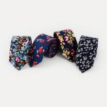Mantieqingway Mens Floral Necktie Fashion Casual Men's Slim Tie Printed Pattern Ties for Men Narrow 6cm Gravatas Cotton Neck Tie