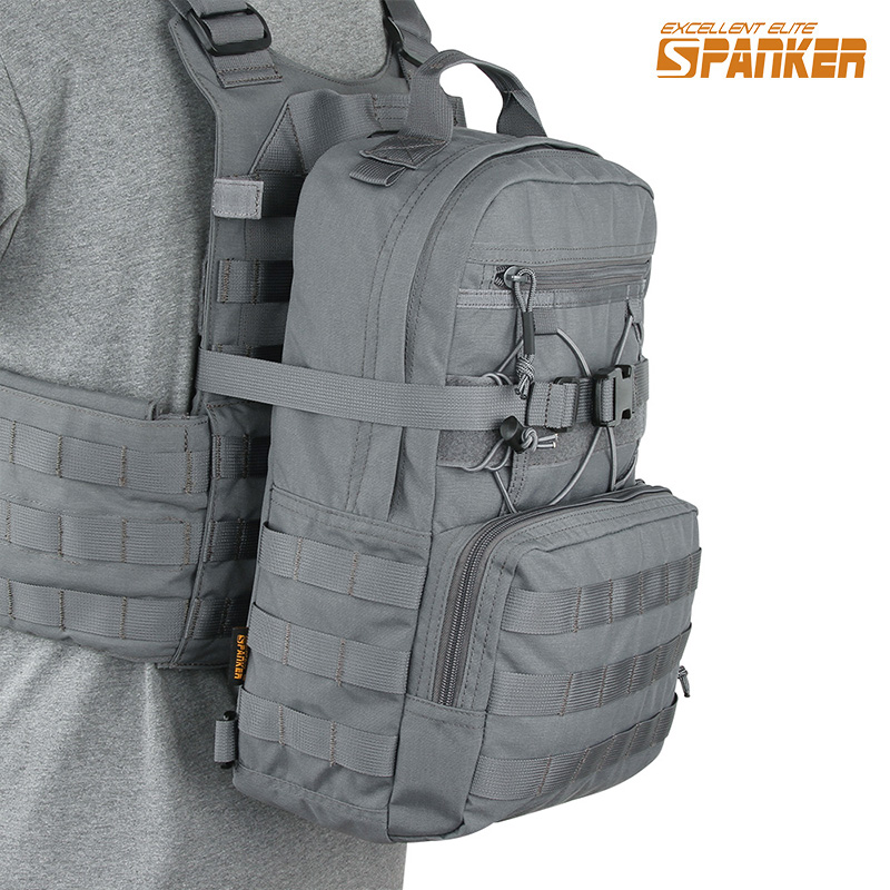 EXCELLENT ELITE SPANKER Tactical Nylon EDC Hydration Backpack Outdoor Hunting Molle Magazine Bag Military Vest Hydration