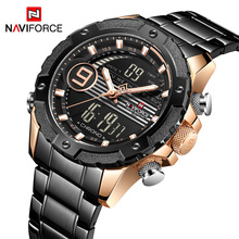 NAVIFORCE 9146S Top Luxury Brand Men Watches Military Waterproof LED Digital Sport Mens Clock Male Wrist Watch relogio masculino