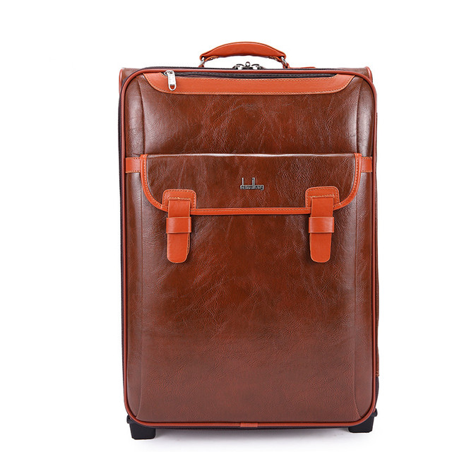 Newest!!! 20 22 24 Inch PU leather Business Trolley Case Luggage Travel Suitcase Boarding Laptop Travel Bag Men and Women