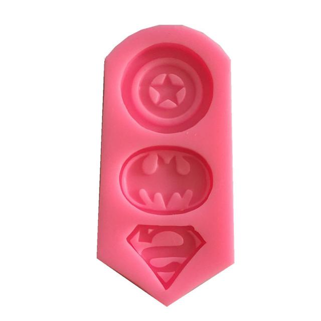 Captain America, Batman & Superman Symbol Silicone Mold