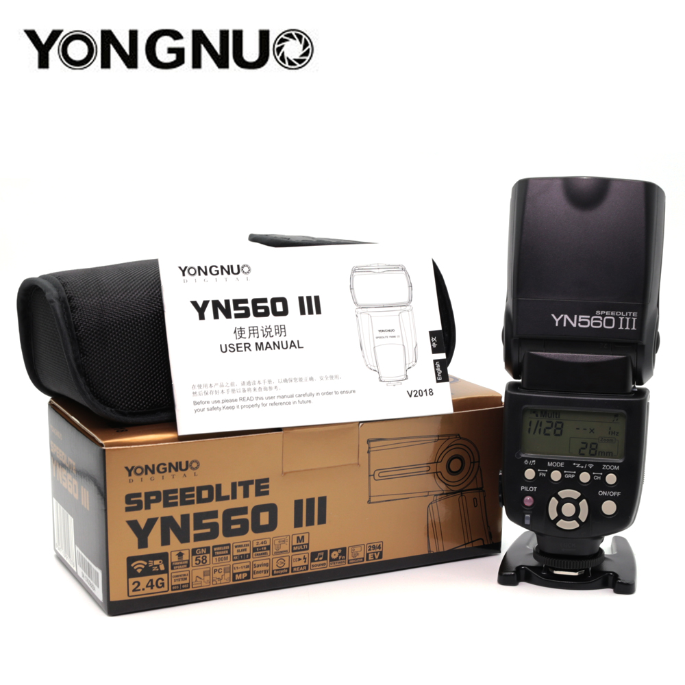 YONGNUO YN560III YN560-III YN560 III Wireless Flash Speedlite Speedlight For Canon Nikon Olympus Pentax Fuji Sony DSLR Camera