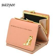 Mini Trifold Hasp Wallet Women Luxury Leather Female Purse Fashion Designer Lady Wallets Coin Pocket Women's Purses Card Holder