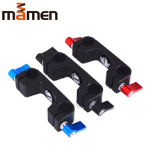 LINGHUANG 8057 Durable Quick Clip Holder Double hole fixed pipe clamp Suitable for DSLR camera  Make shooting easier