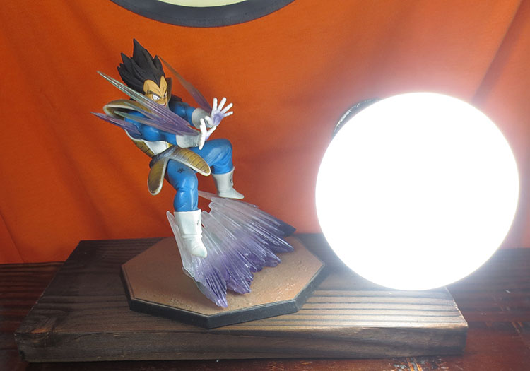KNL HOBBY LED desk lamps explosion models Dragonball Vegeta hand to do Qigong wave led Eye Spot shipping creative birthday gift knl hobby voyager model pe35866 modern us military mim 104c patriot 1 launch platform basic transformation pieces