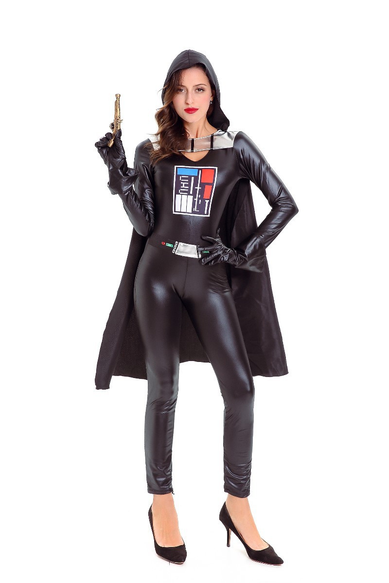 Movie Star Wars Darth Vader Costumes Halloween Adults Cosplay Jumpsuit For Woman and Men