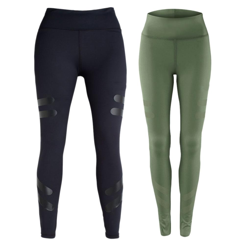 Prix pour Vente chaude Femmes Sport Courir Yoga Pantalon Leggings Gym Maigre Fitness Collants de Sport Pantalon