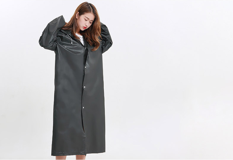 20.Fashion EVA Women Raincoat Thickened Waterproof Rain Coat Women Clear Transparent Camping Waterproof Rainwear Suit Rain jacket_