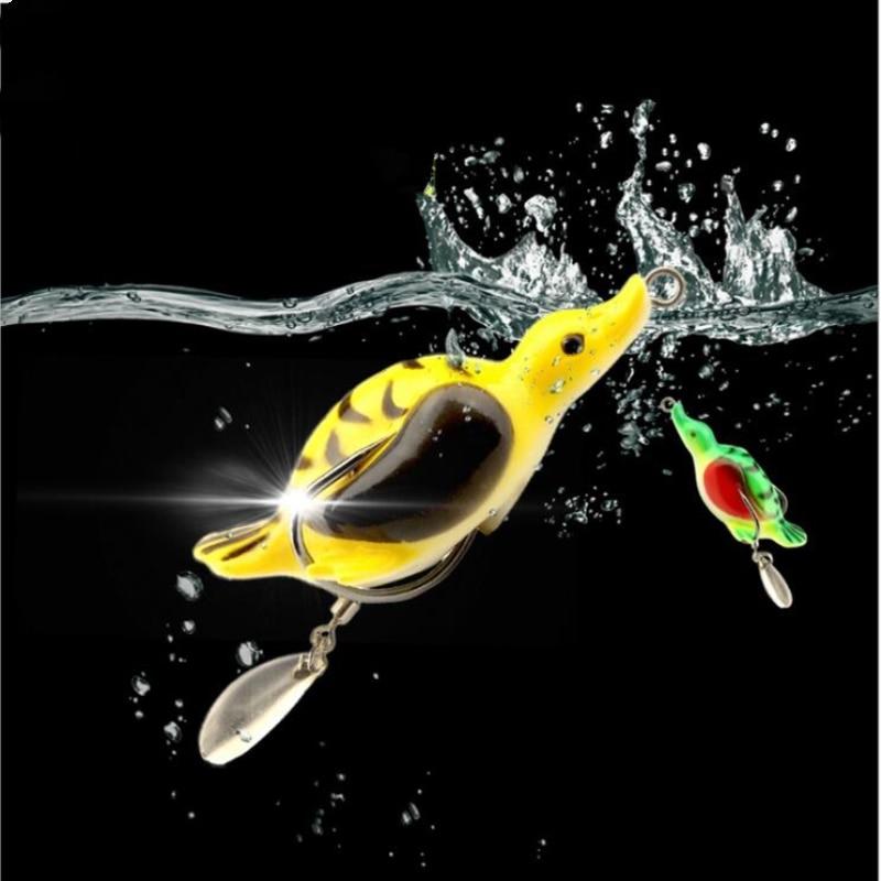 1Pcs 6g 5cm Fishing Lure Artificial Duck Soft Bait Sinking Fishing Wobblers Frog Lure Baits Pesca Carp Fishing Accessories