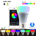 Mi Light Smart Led Bulb Lamp Bluetooth 4.0 8W 110V 220V Dimmable RGB Wifi Smart Lamp Lampada E27 Led Bulb for iOS Android Phone