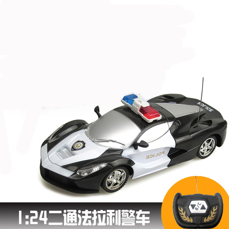 124 rc car with 2 channels electric remote control toys controlled rc police cars classic toys for boys kid birthday gift