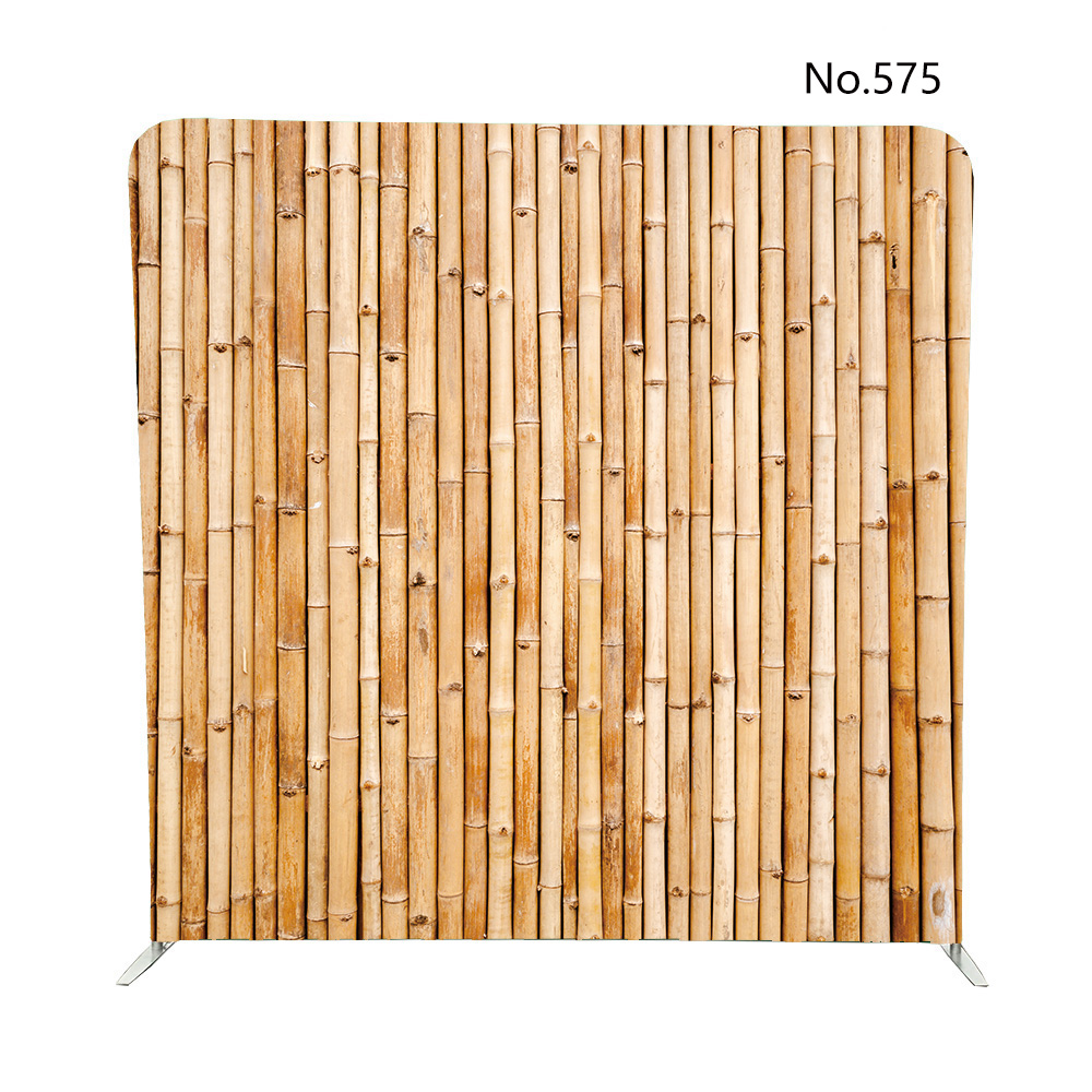 No 575 Old Brown Tone Bamboo Plank Fence Pillow Case