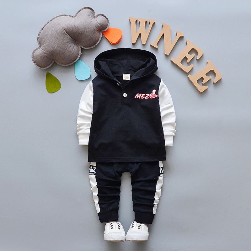 2018 Spring Autumn Baby Girl Boys Sports Children Tracksuits Kids Casual Suits Hooded T Shirt Sweatshirt Pants 2pcs Clothes Sets