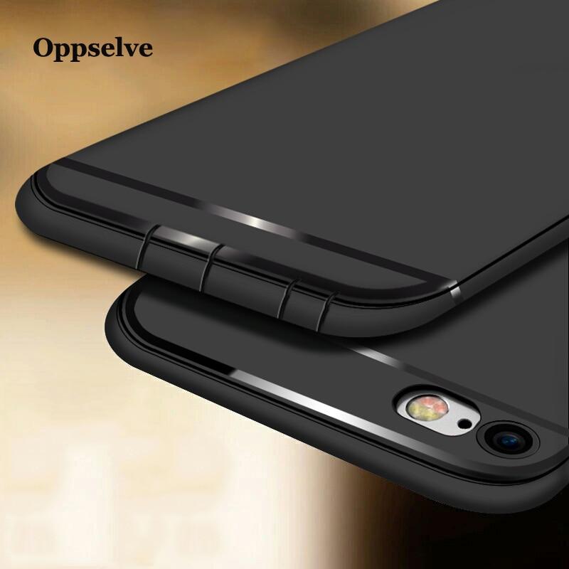 Oppselve Phone Case For iPhone 8 7 6 s Plus Luxury Soft TPU Silicone Cover Apple Coque Funda Capinhas Capa