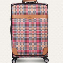 Best Selling Rolling Luggage color plaid Password Lock PU Trolley case box Bag Spinner Wheels Travel Suitcase 22″ inch