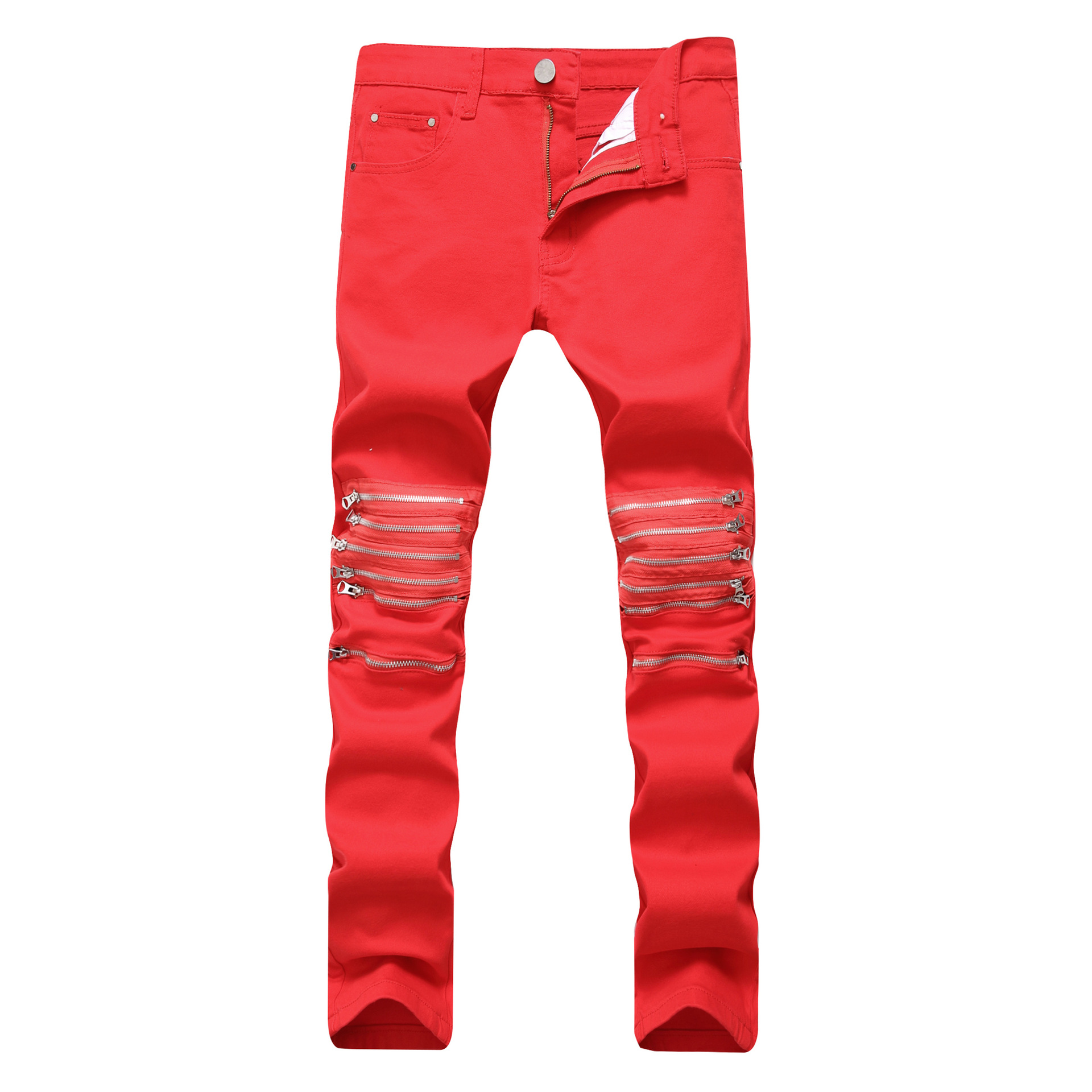 New 2018 Cross-border for fashion men jeans men male clubs youth brand denim trousers undertakes