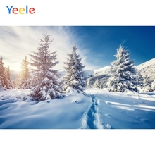 Yeele Winter Landscape Mount Pine Forest Nice Sky Photography Backdrops Personalized Photographic Backgrounds For Photo Studio