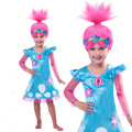 Party Dresses Girls Trolls Christmas Costumes For Girls Party Dress Kids Dresses For Girls Net Yarn Sleeve For Children Clothing
