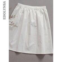 High Quality Women 100% Cotton White Solid Maxi Half Slip Plus Size Long 35cm-80cm Sexy Dresses Pajama Underskirt Sleepwear #K21