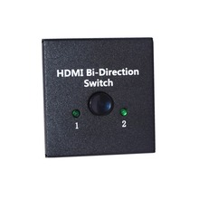 Premium Quality 2-Port HDMI Bi-directional 2×1 Switch Switcher/1×2 Splitter Selector 3D 1.4V Passthrough-Supports Ultra HD 4K