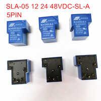 5Pin POWER RELAYS 5V 12V 24V 48V T90 RELAYS SLA-05V 12V 24V 48VDC-SL-A 250VAC/30VDC 10PCS