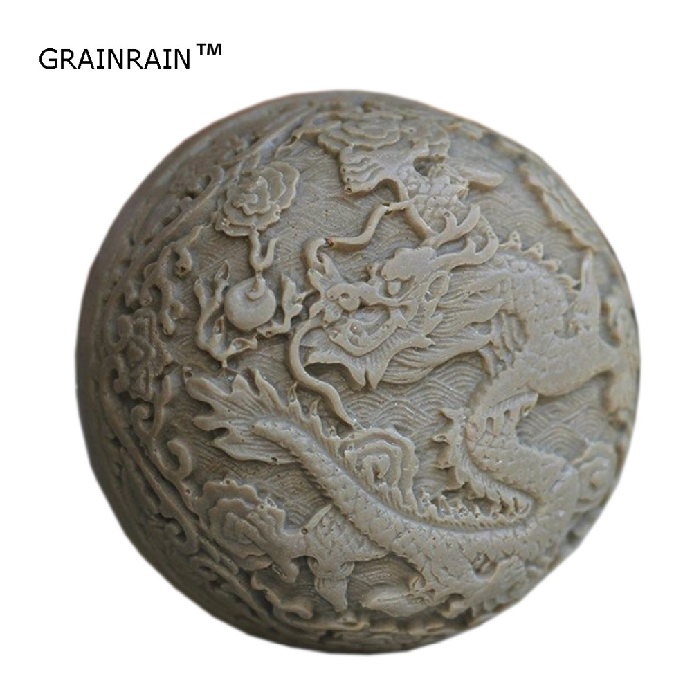 Grainrain Dragon Mold DIY Candle Mould Silicone Soap Mold Craft Art Plaster Resin Mold