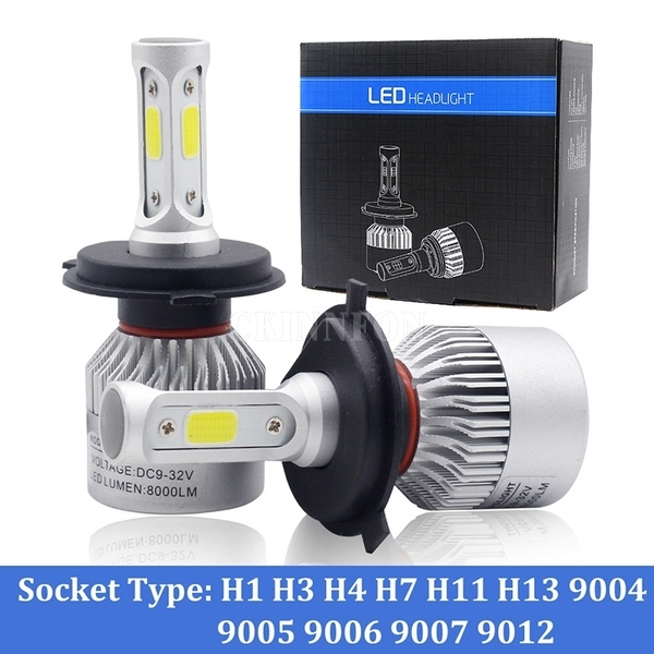 DHL 50PCS 25Pair Car Led Headlight Bulbs Lamp H4 H7 Canbus H11 H8 HB4 H1 H3