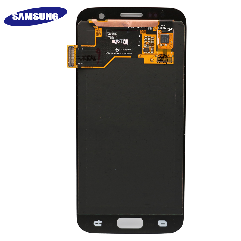 HTB1CV0udi6guuRkSmLyq6AulFXaN High quality ORIGINAL 5.1'' LCD Replacement for SAMSUNG Galaxy S7 Display G930 G930F Touch Screen Digitizer Assembly with Frame