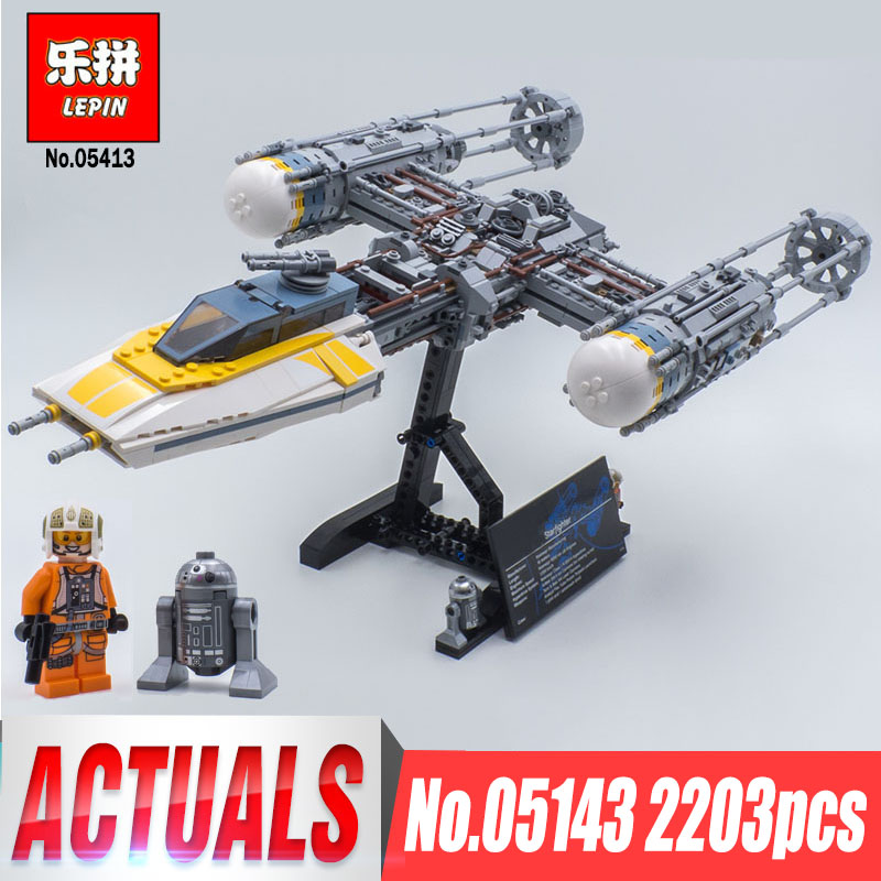 Lepin 05143 Star Compatible Legoingls 75181 Y-wing fighter Set Building Blocks Bricks Wars Toys For Children Boys Birthday Gifts new 1685pcs lepin 05036 1685pcs star series tie building fighter educational blocks bricks toys compatible with 75095 wars