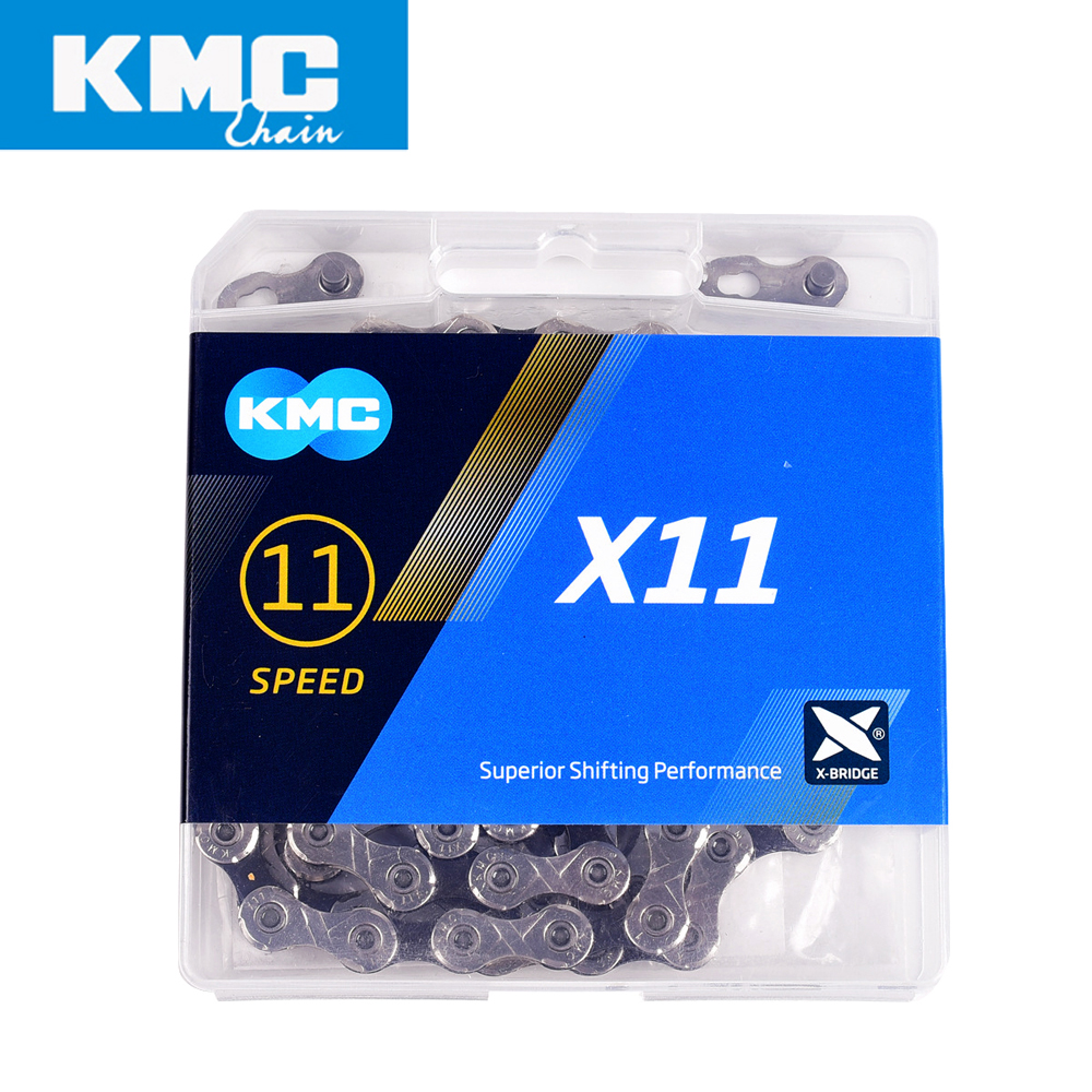 KMC X11 bicycle chain 11 speed 118 links with quick link ultralight 256g MTB mountain bike