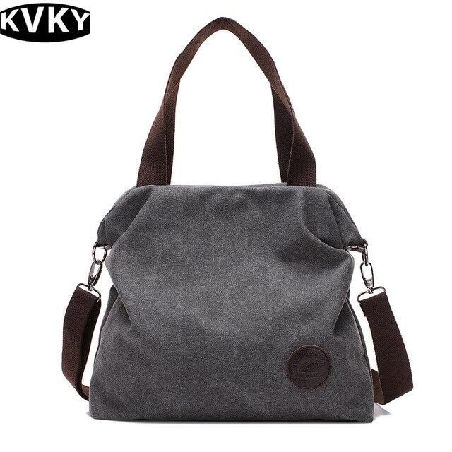 KVKY Women s Handbags Casual Canvas Bags For Women 2018 Female Students  Shoulder Bag HighQuality Women Crossbody Bags Sac A Main 229b42f0b8575