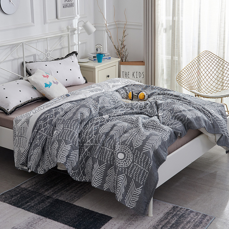 iDouillet Soft Lightweight 3 Layers Cotton Muslin Blanket Quilt Adult Bedding Coverlet Bedspread 150x200cm Oversized 200x230cmiDouillet Soft Lightweight 3 Layers Cotton Muslin Blanket Quilt Adult Bedding Coverlet Bedspread 150x200cm Oversized 200x230cm