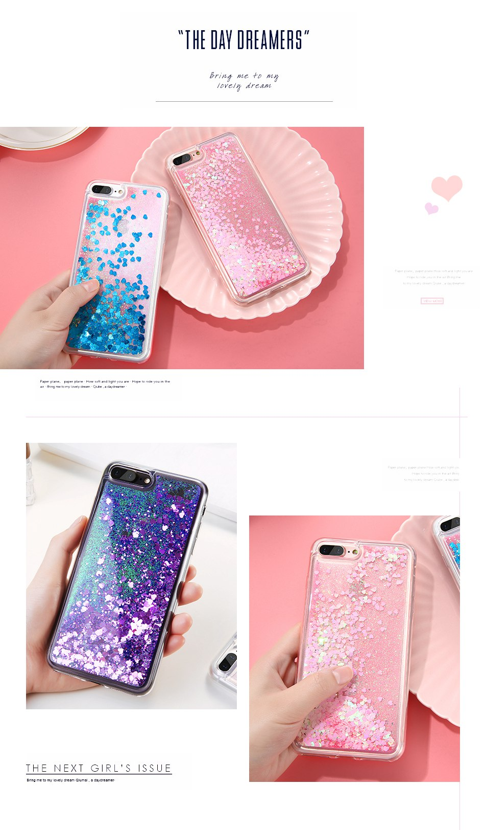 Glitter Quicksand Cover For iPhone 7 Plus For iPhone 6 6S Plus 5 5S SE Sequin Silicon Phone Cases (4)