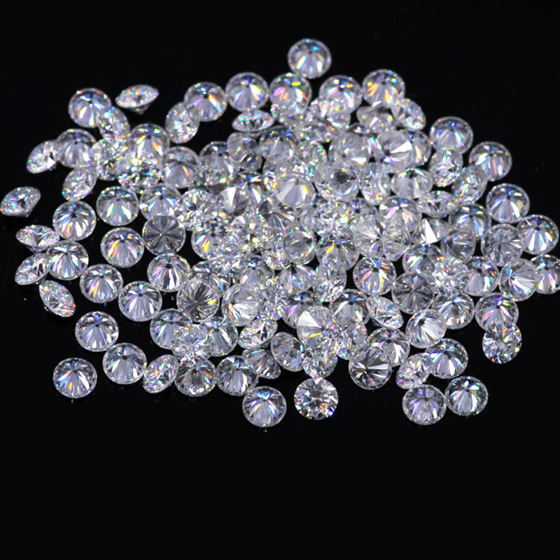 AEAW 1.3mm Total 1 CTW carat F Color Certified Lab Moissanite Diamond Loose Bead Test Positive Similar to Forever One