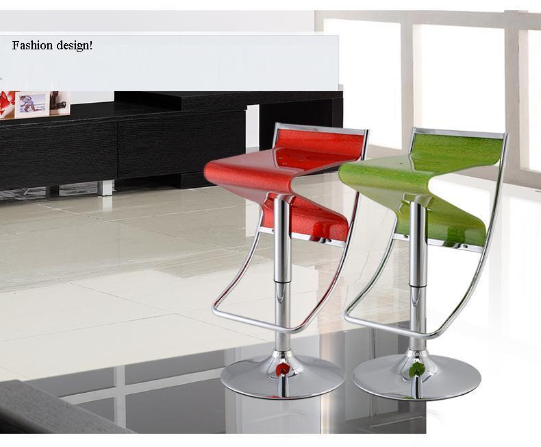 Sgabello Bar Rosso : Casa di campagna bar sedia sgabello acrilico di plastica di colore