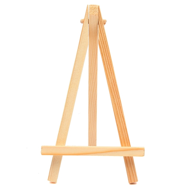 Buy 3pcs mini wood artist tripod painting easel for photo painting postcard Mini chevalet de table