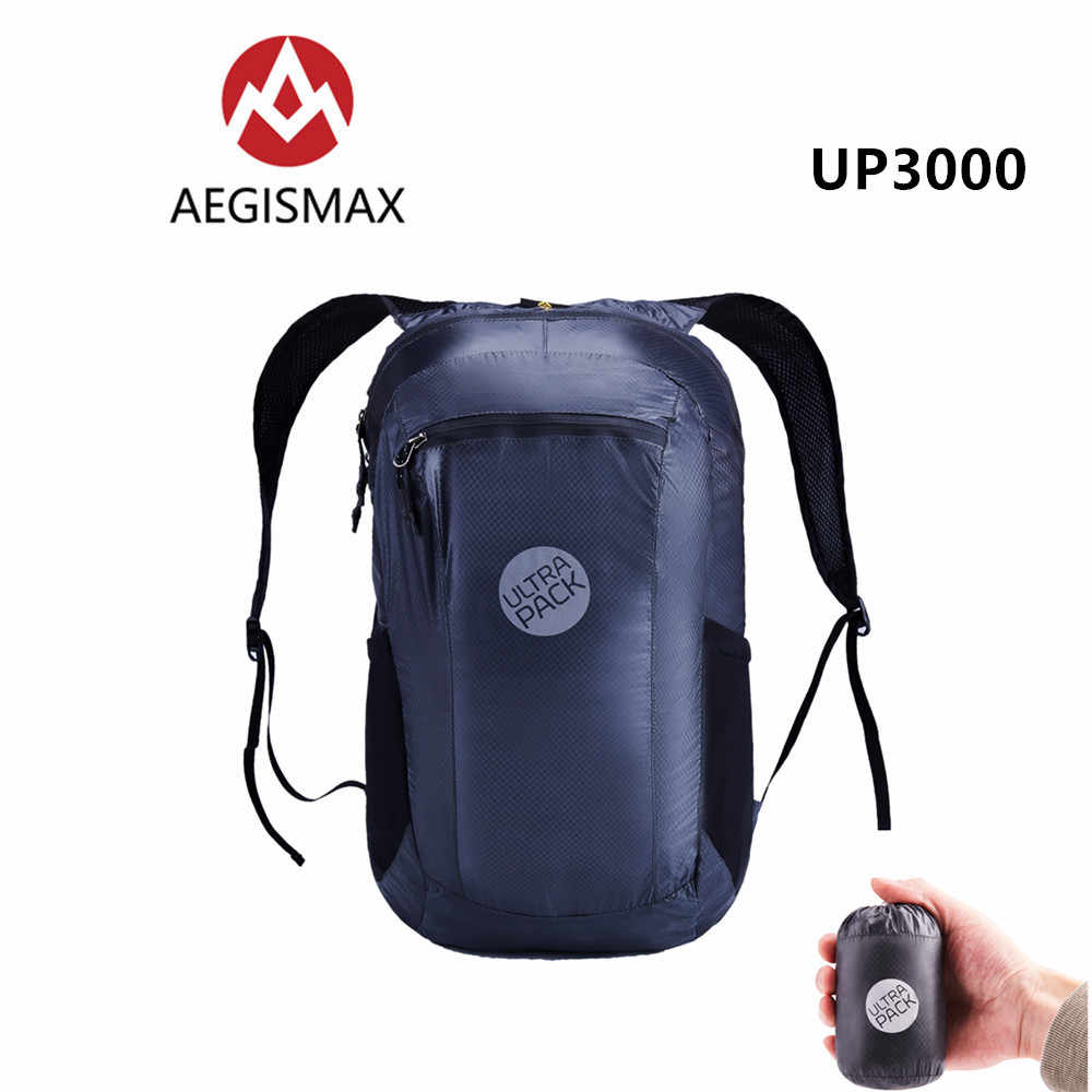 AEGISMAX 18L Ultralight Foldable Outdoor Backpacking Travel And Sport 20D  Nylon Waterproof Camping Hiking Bag UP1300 a7062c02748cf