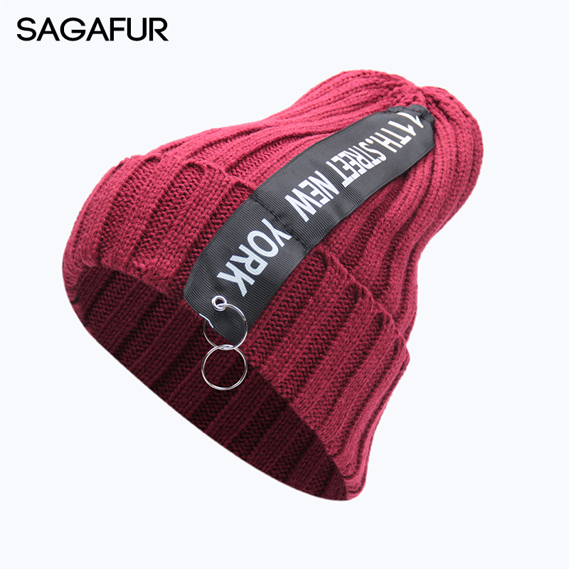 9118c448666 Hat Female Unisex Cotton Solid Warm Soft Hot HIP HOP Women s Knitted Winter  Hats For Men Women Caps Skullies Beanies Wholesale