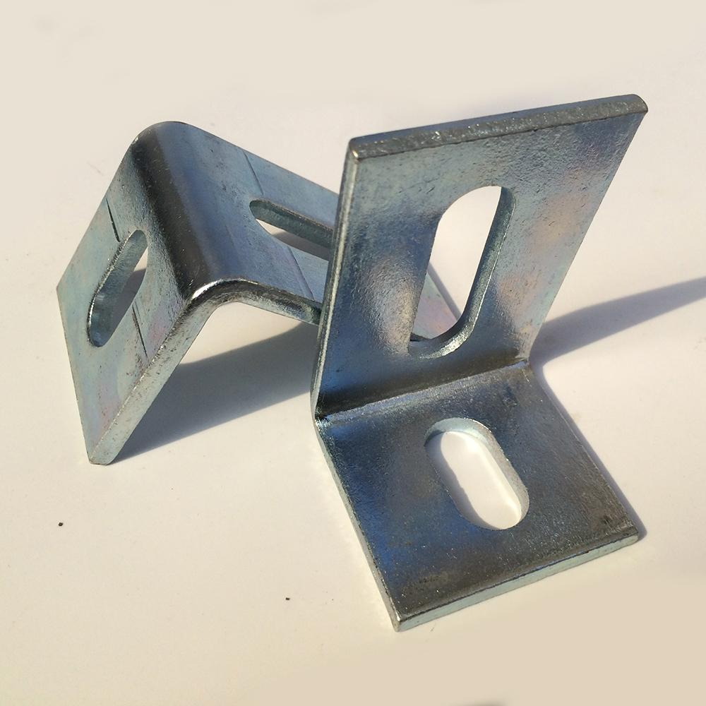 Large stainless steel angle iron code right