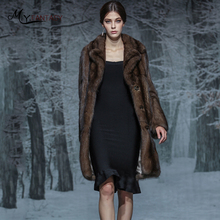 Купить с кэшбэком M.Y.FANSTY Luxury Collections Russian Full Sky Stars Purple Mink Full Mink Coat Fur Coat Female Strongly Recomm