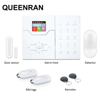 2018 Touchscreen Color LCD Display WIFI GSM Alarm Security System with RFID Tag Arm/Disarm and APP Control Burglar Alarm Casa