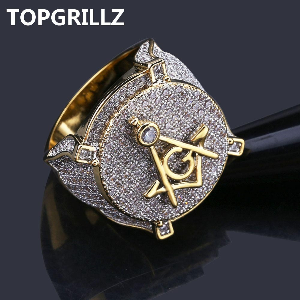 Kaufen Billig Topgrillz Hip Hop Gold Farbe Uberzog Messing Iced Out