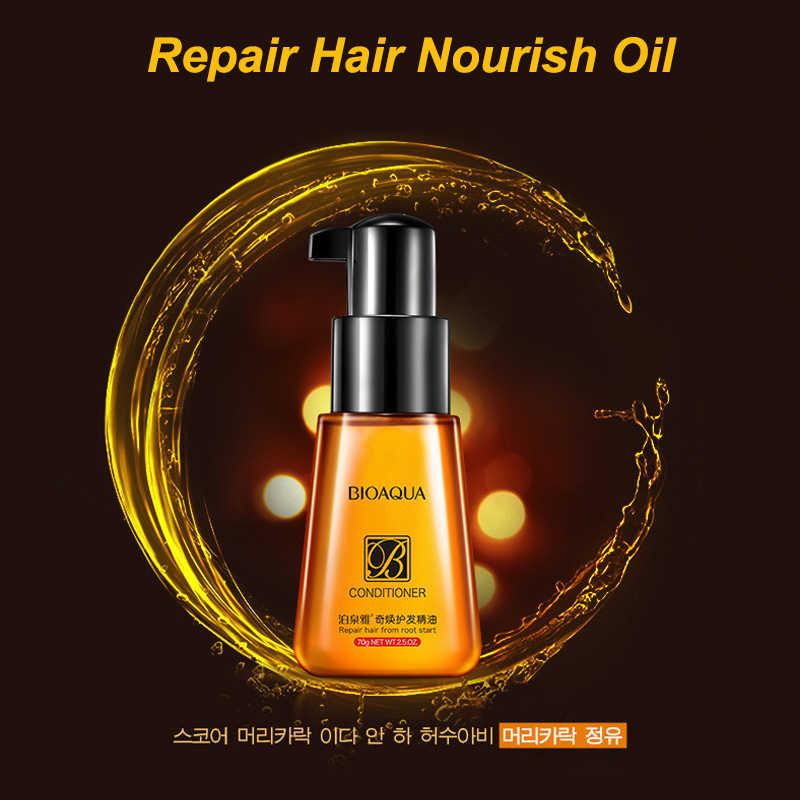 70ml BIOAQUA cristalina del marroquí aceite de argán puro aceite esencial para el cabello para el pelo rizado cabello seco Reparación de queratina cabello el cabello y el cuero cabelludo aceites de tratamiento