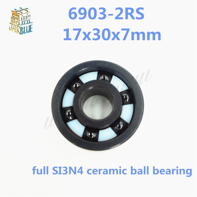 Free shipping 6903-2RS full SI3N4 ceramic deep groove ball bearing 17x30x7mm P5 ABEC5 цена и фото