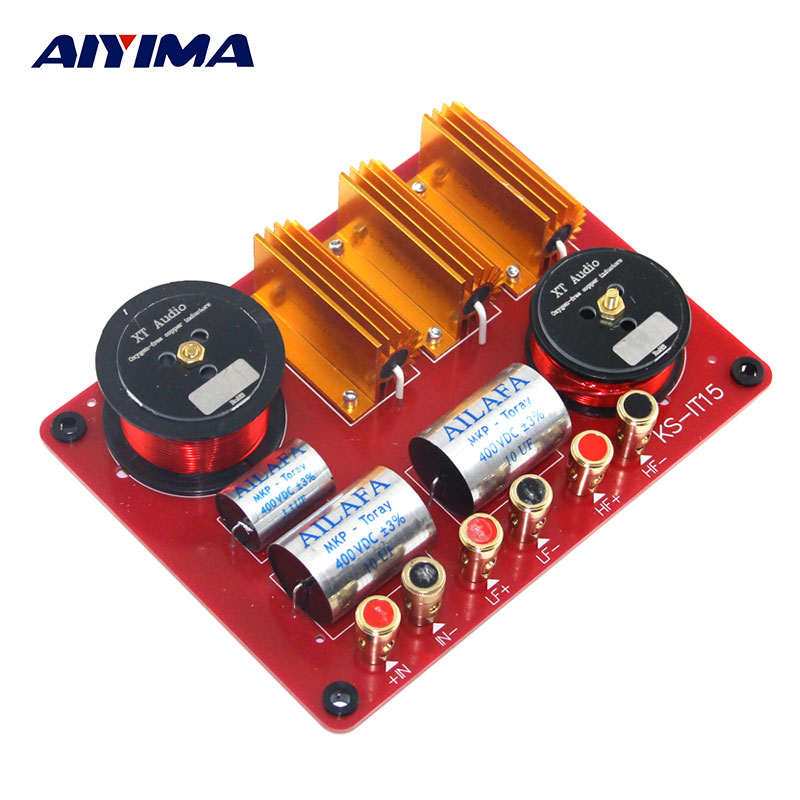 AIYIMA Tweeter Bass Audio Speakers Two Ways Frequency Divider Filter Professional Line Array Crossover DIY For Stage