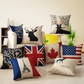 Fashion Europe and America Style Cotton Cushion Bolster Comfortable Pillow Elk Stars and Stripes Pillow Winter Supply