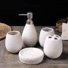 Креативная Керамическая сантехника ручной работы Набор принадлежностей