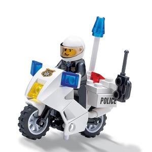 Image 2 - 市警察シリーズミニ警察パイロット労働者ブロック教育ビルディングブロック玩具互換legoing市の子供キッズおもちゃギフト