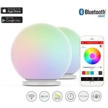 MIPOW PLAYBULBทรงกลมสมาร์ทเปลี่ยนสีกันน้ำDimmableนำลูกโลกกระจกโคมไฟชั้นแสงไฟในคืนแตะเพื่อเปลี่ยนสี